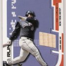 2002 E-X HIT AND RUN MO VAUGHN METS BAT CARD