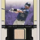 2002 FLEER FLAIR LARRY WALKER ROCKIES GAME-USED BAT CARD