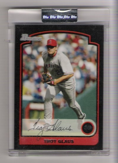 2003 BOWMAN TROY GLAUS ANGELS UNCIRCULATED CARD