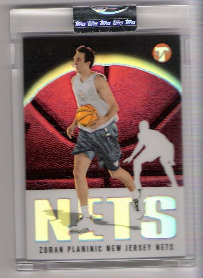 2003 TOPPS PRISTINE ZORAN PLANINIC NETS UNCIRCULATED REFRACTOR CARD