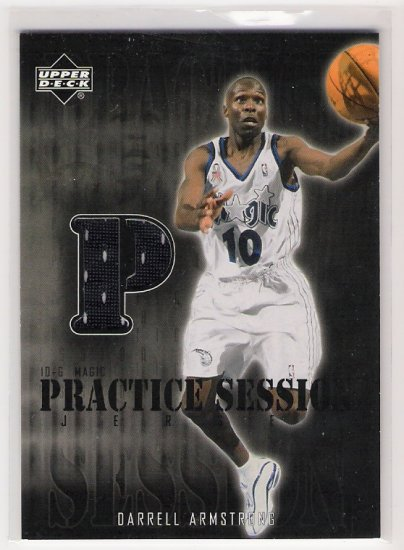 2002-03 UD PRACTICE SESSION DARRELL ARMSTRONG MAGIC JERSEY CARD