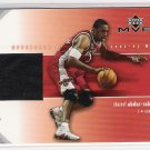 2002-03 UD MVP MATERIALS SHAREEF ABDUR-RAHIM HAWKS WARM-UP CARD