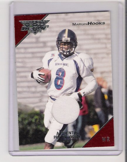 2001 TOPPS DEBUT MARGIN HOOKS JERSEY CARD
