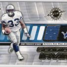 2001 PACIFIC PRIVATE STOCK SEDRICK IRVIN LIONS GAME-WORN JERSEY CARD
