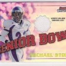 2001 BOWMAN CHROME MICHAEL STONE SENIOR BOWL JERSEY CARD