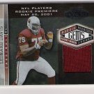 2001 PLAYOFF HONORS LEONARD DAVIS CARDINALS ROOKIE PREMIERE GEMS JERSEY CARD