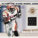 2002 PACIFIC PRIVATE STOCK DAMON GRIFFIN GAME-WORN JERSEY CARD