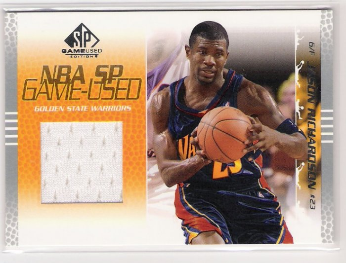 2003-04 UD SP GAME USED JASON RICHARDSON GOLDEN STATE JERSEY CARD