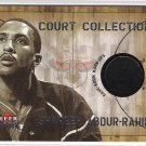 2002-03 FLEER PREMIUM COURT COLLECTION SHAREEF ABDUR-RAHIM HAWKS GAME WORN WARM UPS CARD