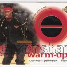 2001-02 UD OVATION DERMARR JOHNSON HAWKS SUPERSTAR WARM UP CARD