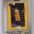 2001-02 FLEER SHOWCASE SHAQUILLE O'NEAL AVANTCARD CARD