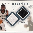 2000-01 SPX WINNING MATERIALS TERRELL BRANDON TIMBERWOLVES DUAL JERSEY/WARM-UPS CARD