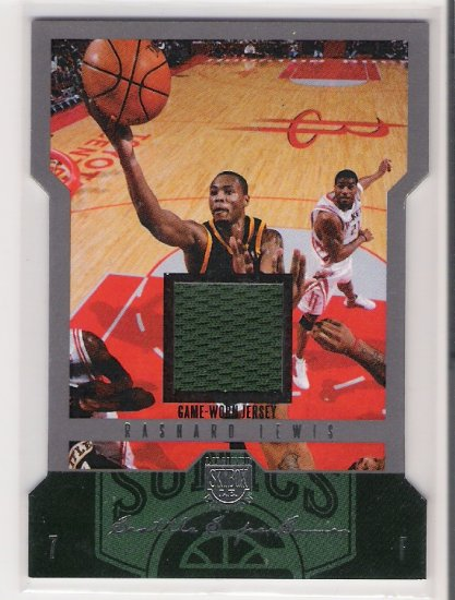 2004-05 FLEER SKYBOX RASHARD LEWIS SUPERSONICS JERSEY PROOF CARD