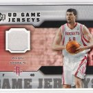 2005-06 UD GAME JERSEYS RYAN BOWEN ROCKETS GAME-USED JERSEY CARD