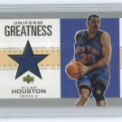 2002-03 UD AUTHENTICS UNIFORM GREATNESS ALLAN HOUSTON KNICKS GAME-USED UNIFORM CARD