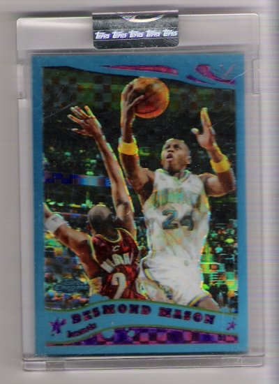 2005-06 TOPPS CHROME DESMOND MASON HORNETS UNCIRCULATED BLUE XFRACTOR CARD