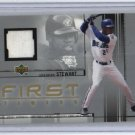 2002 UD FIRST TIMERS SHANNON STEWART BLUE JAYS GAME WORN JERSEY CARD