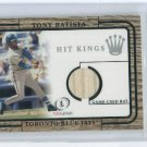 2001 FLEER LEGACY HIT KINGS TONY BATISTA BLUE JAYS GAME-USED BAT CARD