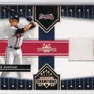 2005 DONRUSS CHAMPIONS IMPRESSIONS DAVID JUSTICE BRAVES GAME USED CARD