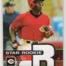 2003 UPPER DECK STAR ROOKIE KENNY LEWIS REDS JERSEY SWATCH CARD