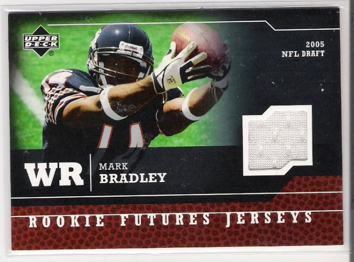 2005 UPPER DECK ROOKIE FUTURES MARK BRADLEY BEARS EVENT WORN JERSEY CARD