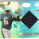 2002 BOWMAN'S BEST ROHAN DAVEY PATRIOTS JERSEY CARD