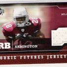 2005 UPPER DECK ROOKIE FUTURES J.J. ARRINGTON CARDINALS EVENT-WORN JERSEY CARD