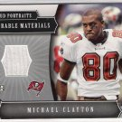 2005 UPPER DECK PORTRAITS MICHAEL CLAYTON BUCCANEERS MEMORABLE MATERIALS GAME -WORN JERSEY CARD