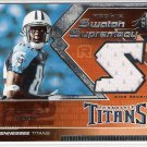2005 SPX ROOKIE SWATCH SUPREMACY COURTNEY ROBY TITANS EVEN WORN JERSEY CARD