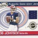 2001 PACIFIC ATOMIC ROB JOHNSON BILLS GAME-WORN JERSEY CARD