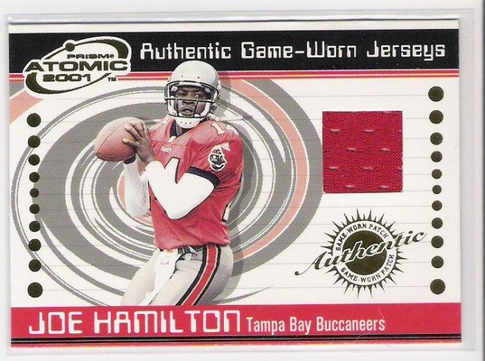 2001 PACIFIC ATOMIC JOE HAMILTON BUCCANEERS GAME-WORN JERSEY CARD