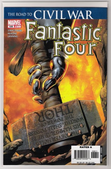 FANTASTIC FOUR #536 1ST PRINT CIVIL WAR-NEVER READ!
