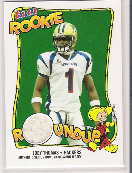 2004 TOPPS BAZOOKA ROOKIE JOEY THOMAS PACKERS SENIOR BOWL JERSEY CARD