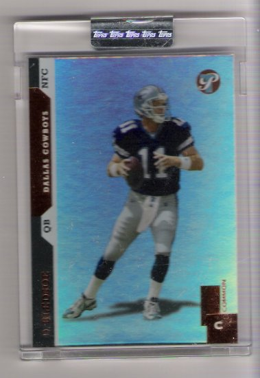 2005 TOPPS PRISTINE DREW BLEDSOE COWBOYS UNCIRCULATED CARD