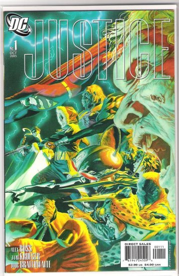 JUSTICE #1 VILLAINS COVER ALEX ROSS-NEVER READ!