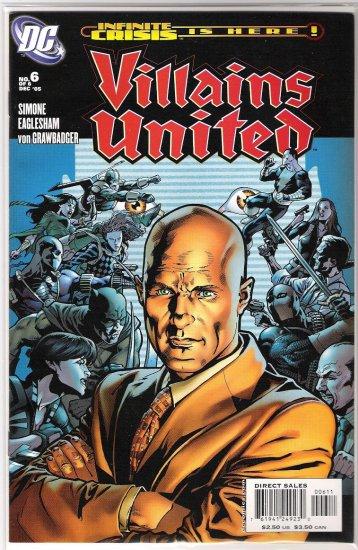VILLAINS UNITED #6-NEVER READ!