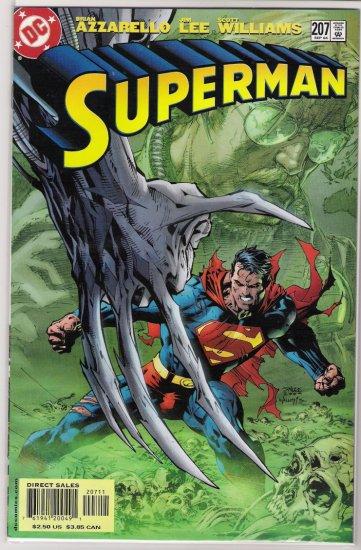 SUPERMAN #207 JIM LEE-NEVER READ!