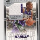 2003-04 SP AUTHENTIC FABRICS MARCUS HAISLIP BUCKS GAME WORN JERSEY CARD