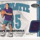 2001-02 HOOPS HOT MATERIALS KIRK HASTON HORNETS WARM-UPS CARD