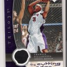 2005-2006 UD TRILOGY CUTTING EDGE CHARLIE VILLANUEVA RAPTORS JERSEY CARD