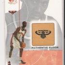 2001 SP GAME FLOOR DERMARR JOHNSON HAWKS AUTHENTIC FLOOR CARD