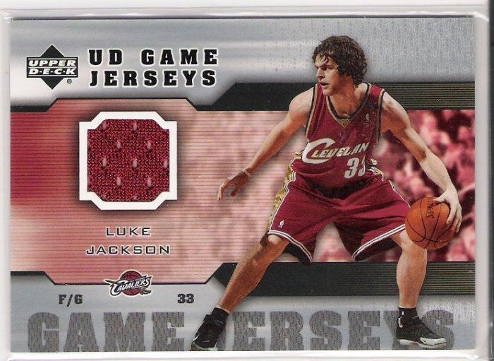 2005-06 UD GAME JERSEYS LUKE JACKSON CAVALIERS GAME JERSEY CARD