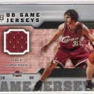 2005-06 UD GAME JERSEYS LUKE JACKSON CAVALIERS GAME JERSEY CARD