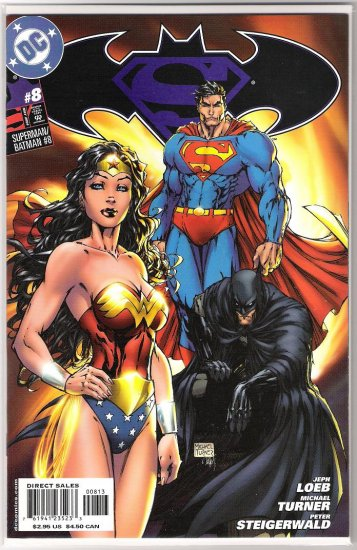 SUPERMAN/BATMAN #8 RARE THIRD PRINT MICHAEL TURNER-NEVER READ!