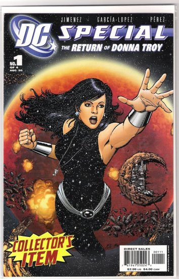 DC SPECIAL: THE RETURN OF DONNA TROY #1-NEVER READ!