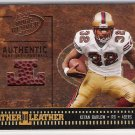 2004 PLAYOFF HOGG HEAVEN LEATHER IN LEATHER KEVAN  BARLOW 49ER GAME USED BALL CARD
