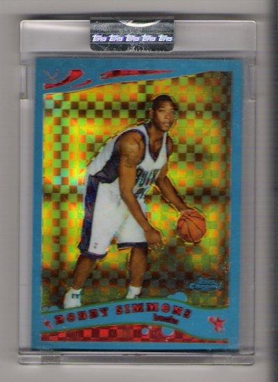 2006 TOPPS CHROME BOBBY SIMMONS BUCKS UNCIRCULATED BLUE XFRACTOR CARD #'D 60/90!