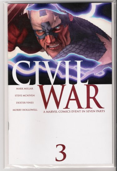 CIVIL WAR #3 1ST PRINT-NEVER READ!