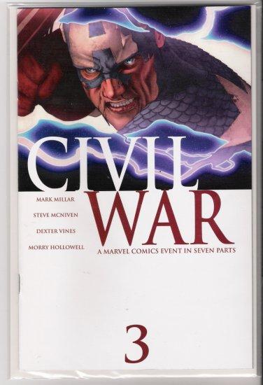 CIVIL WAR #3 1ST PRINT-NEVER READ!