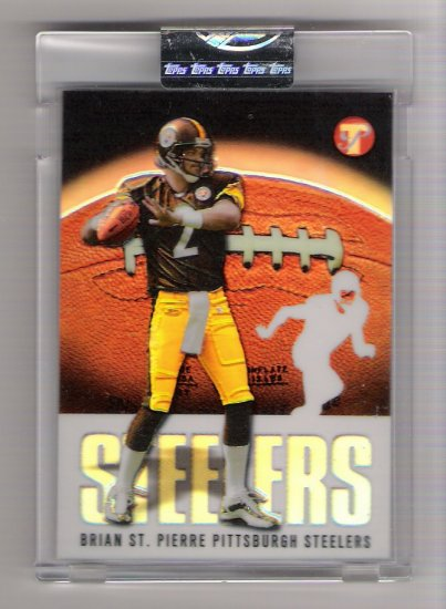 2003 TOPPS PRISTINE BRIAN ST.PIERRE STEELERS UNCIRCULATED REFRACTOR CARD